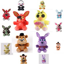 new 1pce/lot Five Nights at Freddy's 2style plush Bonnie china foxy freddy doll toy Furnishing articles Children's gift(China)