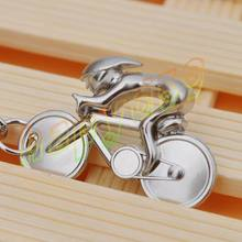 2pcs creative metal Sporty man Road bicycle figure keychain keyring souvenirs bike Cycling lover biker AD party gift keychain