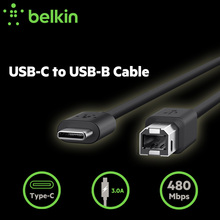 1.8m Type-C Print Cable Belkin Original USB-C to USB-B Printer Cable for New MacBook Pro for Scanner with Retail Package F2CU035(China)