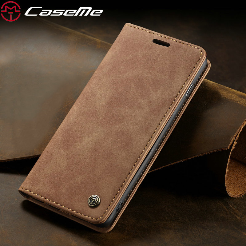 CaseMe 360 Magnetic Case For Samsung Galaxy S10 Retro Magnetic Wallet Leather Case For Galaxy S10 e E Plus Galaxy S10 Flip Case(China)