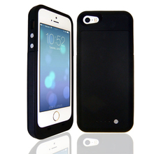 2500mAh Rechargeable Backup External Battery Case Charger Case 4 LED Power Bank Pack Powerbank Cover Case for iPhone 5 5S