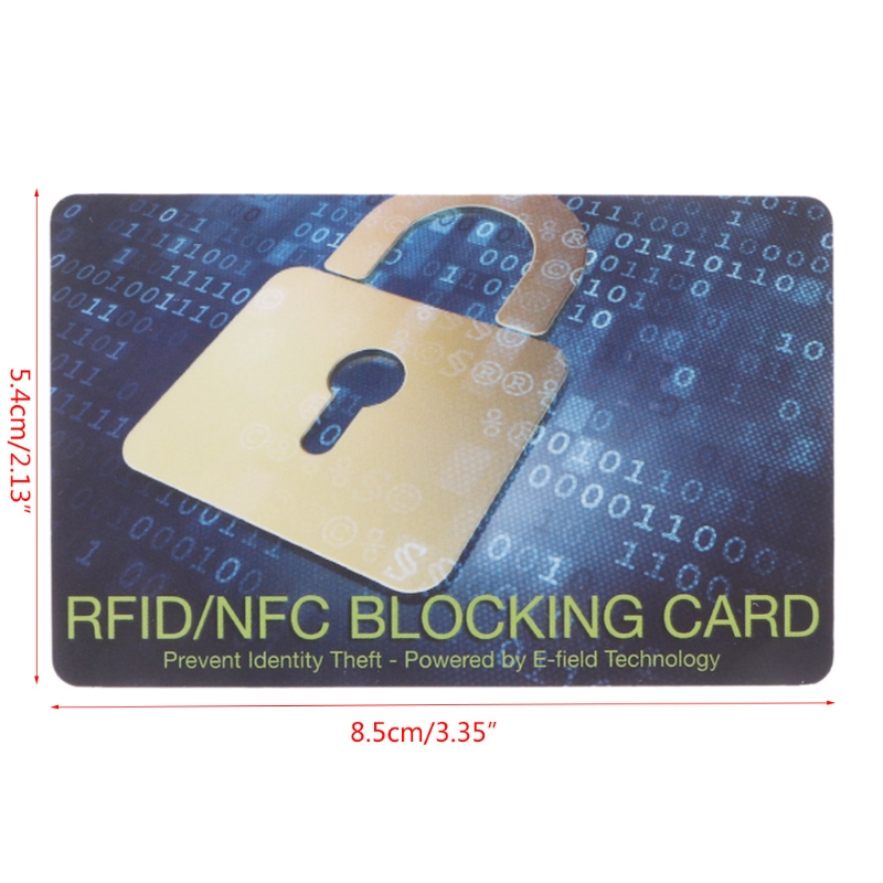 Credit Card Protector RFID Blocking NFC Signals Shield Secure For Passport Purse title=