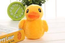 CUTE NEW 10CM Yellow Duck Plush Stuffed TOY DOLL , Sucker Pendant Plush Toys DOLL , Wedding Bouquet Gift TOY DOLL