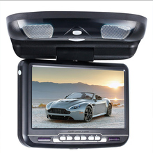 9 inch Car Roof Mounted Monitor LED Digital Screen DVD Player IR&FM Transmitter Flip Down Support 32 Bits Game USB SD Seicane