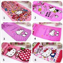 wholesale/retail, Hello kitty towel face towel cartoon towel gift towel pattern ,free shipping(China)