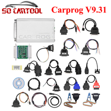 CARPROG Full Set V9.31 Programmer Auto Repair Airbag Reset Tools Car Prog ECU Chip Tuning Full 21 Adapters Free Shipping