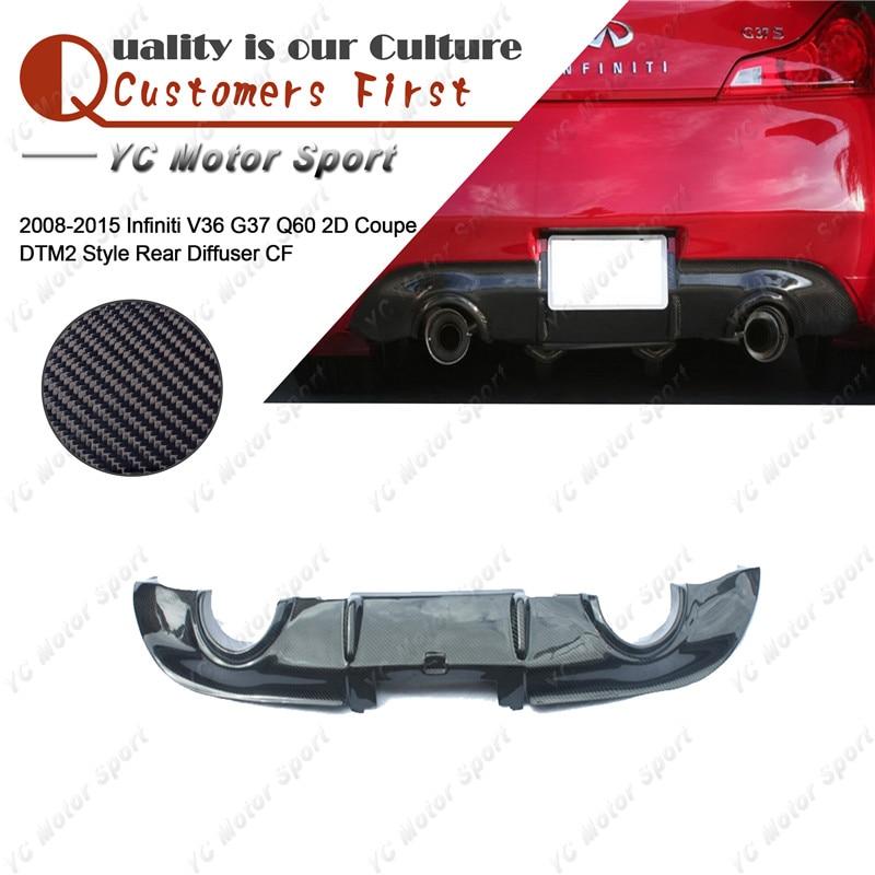 Carbon Fiber Rear Trunk Spoiler Lip for 2008-2013 INFINITI G37 Q60 Coupe 2dr C