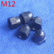 M12 1 pcs Black Nylon acorn nuts /12mm Protection Dome Head hex Cover Nuts/Plastic hexagon Cap Nut brand new high-quality
