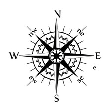Car Styling Nswe Compass Wind Rose Bardian Vinyl Decal Car Stickers(China)