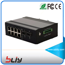 1GX8GT 8 RJ45 ethernet port 1 sfp modular port industrial managed network switch(China)