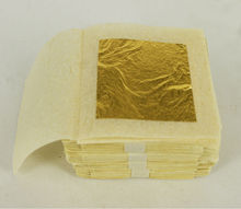 100 sheets 2.5x2.5cm  24K pure genuine gold leaf edible gold leaf 99.99% gold,free shipment