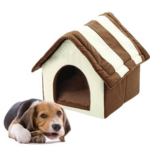 1pcs House Dog Bed Pet Bed Warm Soft Dog Kennel Dog Sweet Home Washable House Sleeping Bag Cat Bed Easy To Clean Pet House