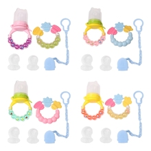 Buy Set Baby Care Teether Fruits Vegetables Feeder Chain Silicone Biting Soother 0111 for $4.87 in AliExpress store