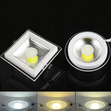 SPLEVISI 2PCS/Lot 3 Colors Dimmable COB LED Panel Ceiling Lights 5W 10W 15W Glass Cover LED Spot bulb(China)