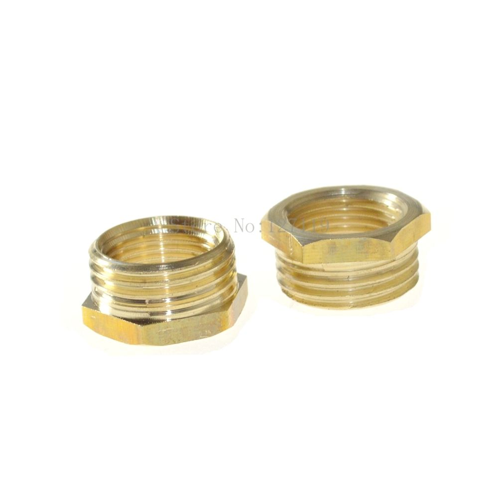 1pc 2 Male -1/2 Female Female Bushing Length 30mm Brass Pipe Fitting Connector<br><br>Aliexpress