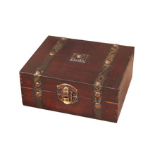 Hot 1PCS Handmade Retro European wooden box Vintage Wooden Treasure Case Decorative Trinket Jewelry Storage Box Old Memory