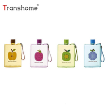 Buy Transhome paper flask 320ml A6 Notebook Flat Water Bottle Plastic Portable Leak-proof Creative Drinkware Outdoor Sport for $4.99 in AliExpress store