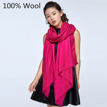 2017 Fashion Autumn Winter Brand Wool Scarf Warm moderate Multi Colors Shawl Women Soft Scarves Free Shipping(China)