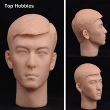 "PH TOYS 1/6 Male Head Sculpt JK5/JK1 hair carving Colorless Head Art Painting Model Fit Toys 12 ""Action Figure Body Accessory(China)"