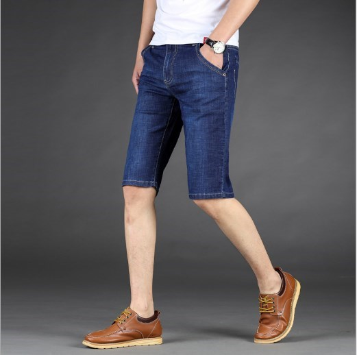 Men Denim Shorts Brand Summer Men Jeans Shorts Plus Size 44 46 Fashion Designers Shorts Cotton Jeans Men's Slim Jeans Shorts Men
