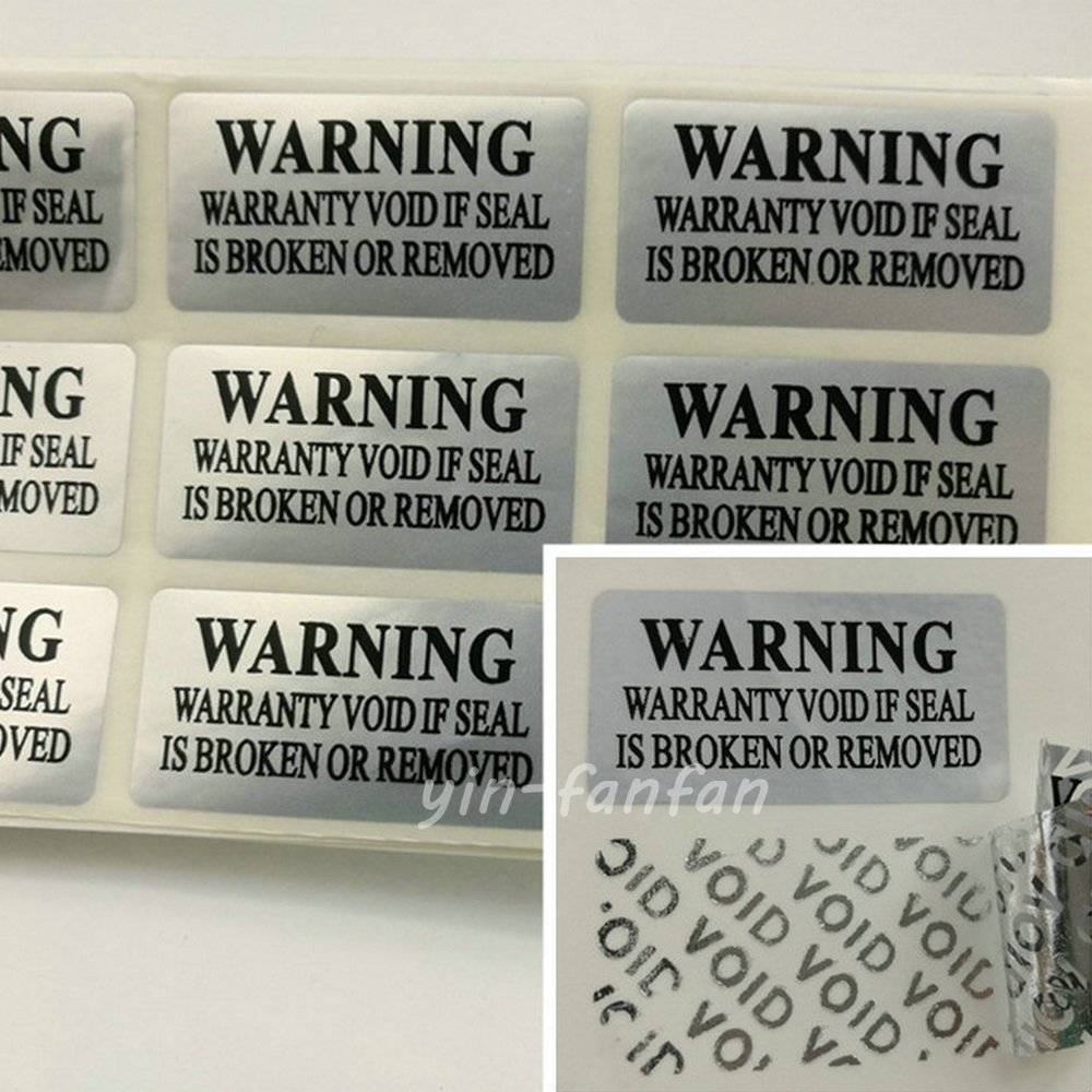 100pc silver VOID Security Labels Removed Tamper Evident Warranty Sticker(China (Mainland))