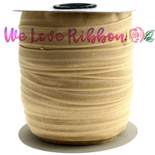 "5/8""16mm Solid Color Fold Over Elastic Ribbon DIY Christmas Packing Decoration Stuff Webbings diy bands 10y/roll BBC0001S016C826(China)"