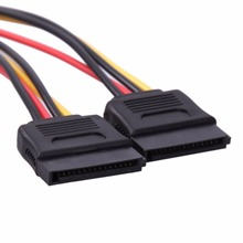 UN2F 4Pin IDE to 2 Serial ATA SATA Y Splitter Hard Drive Power Adapter Cable Best Price