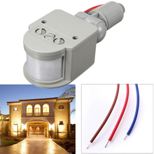 2016 New Arrival Super Quality Auto LED Outdoor Infrared PIR Motion Sensor Detector Wall Light Switch 140 Degree 12M