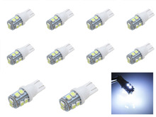 100% Brand New 10x T10 W5W 501 10 SMD 3528 LED License Plate Side Light Pure White DC 12V(China)