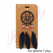 Aidocrystal 2016 custom cell phone covers case For iPhone 7 7plus 6 6s 6plus 6s plus dreamcatcher Cases flip Cover