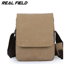 Real Field RF Men Vertical Canvas Messenger Bag Student School the trend of Casual Male Shoulder Crossbody Bolsa Handbags 094