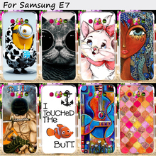 TAOYUNXI Hard Plastic Soft TPU Phone Cover For Samsung Galaxy E7 E7009 SM-E700F E700 E700H Case Wholesale Retail Cell Phone Bag