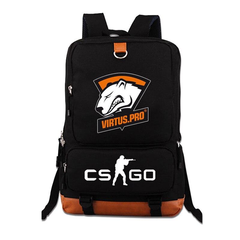 Top Quality 2017 Virtus.pro Team Fnatic DOTA 2 CS CSGO Luminous Teenagers Printing Backpack Student Laptop Bag Mochila Feminina<br>