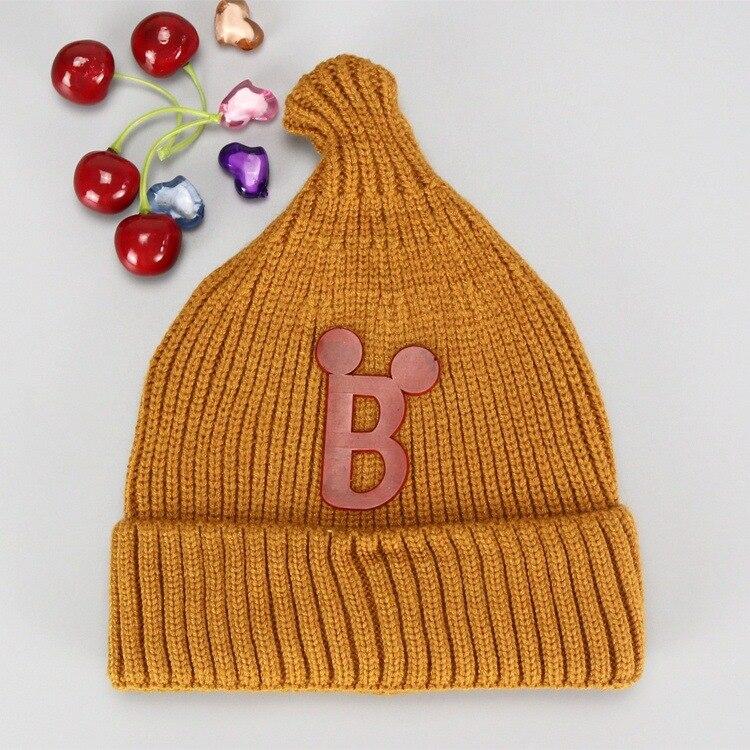 0-12 Month Yi Wu New B Nipple Design Baby Winter Warm Hat  Autumn Children Knitting Beanies Baby Caps  Kids Accessories