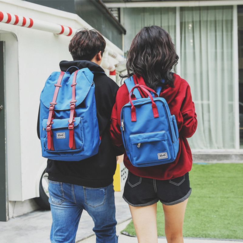Couple Backpack Women Men Casual Bag Lovers Waterproof Oxford Material Fashion European Style His-and -Her Backpacking Bag<br><br>Aliexpress
