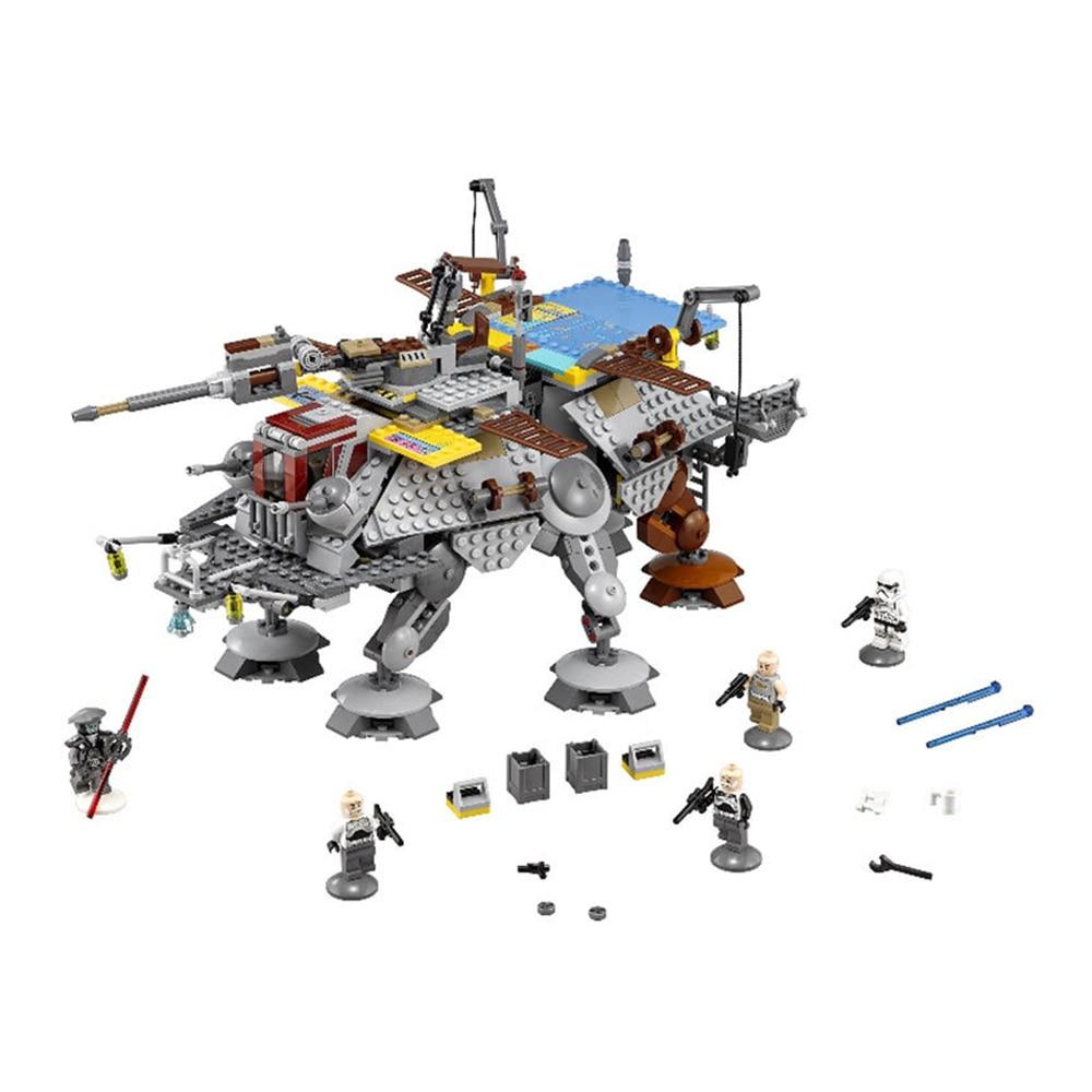 1022Pcs Star Wars Captain Rexs AT-TE figureblock Building Blocks Brick  Kids Toy compatiable with brand<br><br>Aliexpress