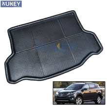 Fit For Toyota RAV4 Boot Mat Rear Trunk Liner Cargo Floor Tray Carpet Mud Kick Protector 2013 2014 2015 2016 2017 Accessories(China)
