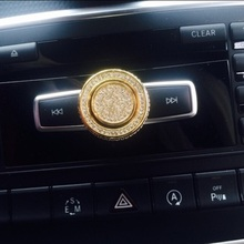car volume knob decoration/volume decoration Knob sticker Fit for Mercedes Benz A/B/C/E/GLA/GLK/CLA/CLS class
