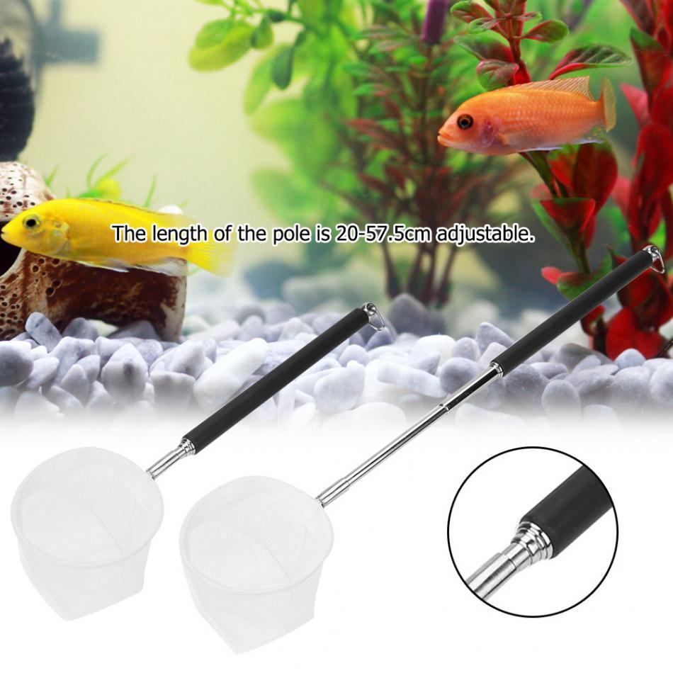 Telescopic  Fish Tank Fish Net Rod Adjustable Foldable Pole Fish Catch /& Release
