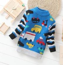 Free Shipping 1 Pc Only Kids Boys knitted sweater Cotton O  Neck Winter Sweaters for Boy Pullovers  Sweatercoat 2-3 Years old