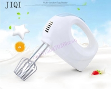 JIQI Electric handheld food mixer Egg cream blender food processor Whisk Food grade 5 gears One button to remove 100W durable(China)