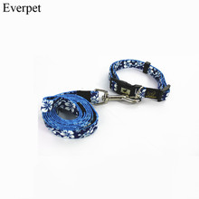 Free Shipping brand name cheap pet collar and leash set nylon pet dog Collar & Leads High Quality for Chihuahua Poodle Pitbull