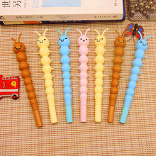 12 pcs/Set Creative Kawaii Caterpillar Remove By Friction Gel Pen Students Stationery Water Pen Offices School Writing Supplies
