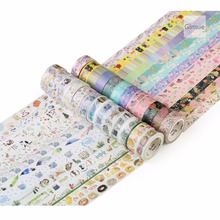25 Colorful Washi Tape Decorative Masking Tape for DIY Crafts, Kids' Art Projects, Scrapbook, Journal, Planner, Gift Wrapping(China)