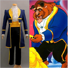 2017 free custom cosplay costume Beauty and the beas prince Adam beast pack cosplay male halloween stage stage dress(China)
