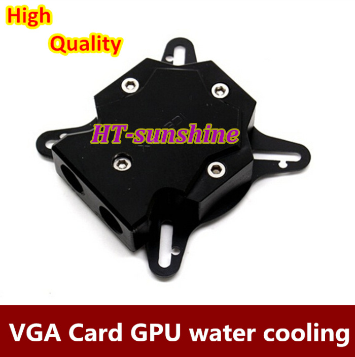 Free shipping   5PCS  GPU water cooling block waterblock For GTX4 GTX5 GTX6 GTX7 800 6800 universal for hole Pitch 43-61mm Black<br>