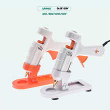 DIY Hot Melt Glue Gun With Stand Industrial Mini Guns Thermo Electric Adhesive Glue Stick Heater DIY Hand Craft Household Repair(China)