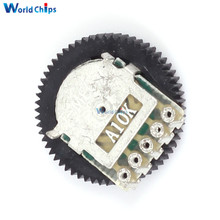 New 10PCS A103 10K Duplex Gear Potentiometer Dial 16x2mm for Radio MP3/MP4 Volume Adjustment Switch Potentiometers(China)