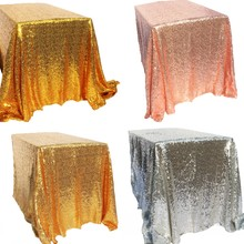 Sparkly Gold/Silver 100x150cm Sequin Glamorous Tablecloth/Fabric For Wedding Party Event Table Decorations
