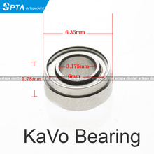High Quality KAVO compatible handpiece bearing dental bearings ceramic balls with dust cover 10pcs stepped bearing